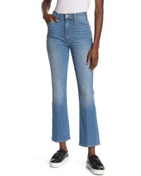 Mother Blue The Hustler Bootcut Ankle Jeans
