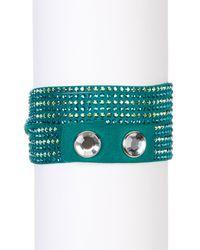 Swarovski   Green Slake Crystal Wrap Bracelet   Lyst