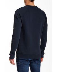 Scotch & Soda - Blue Crew Neck Graphic Sweatshirt for Men - Lyst
