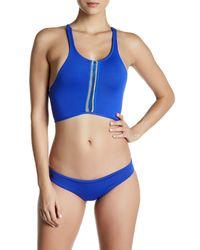 Maaji   Blue Sapphire Surfer Signature Cut Reversible Bikini Bottom   Lyst
