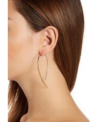 Lana Jewelry | Metallic 14k Yellow Gold Glam Hooked On Hoop Earrings | Lyst