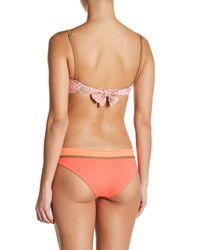 Maaji - Orange Cantaloupe Traveler Signature Cut Reversible Bikini Bottom - Lyst