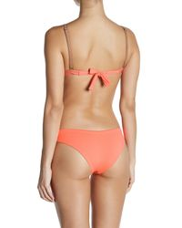 Maaji - Orange Cantaloupe Traveler Triangle Reversible Bikini Top - Lyst