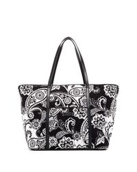 Vera Bradley | Black Trimmed Vera Traveler Bag | Lyst