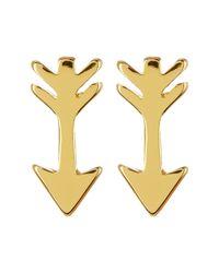 Gorjana - Metallic 18k Gold Plated Arrow Stud Earrings - Lyst