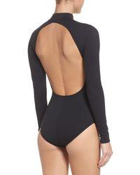 Zella - Black So Flawless Keyhole Bodysuit - Lyst