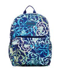 Vera Bradley Blue Lighten Up Just Right Backpack