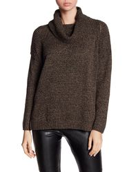 BCBGeneration - Brown Cowl Neck Sweater - Lyst