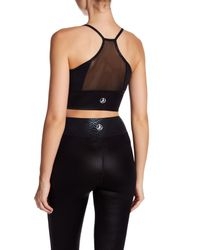 Sam Edelman - Black Long Line Mesh Sports Bra - Lyst