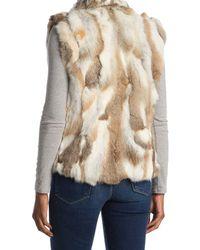 Surell Natural Genuine Rabbit Fur Vest