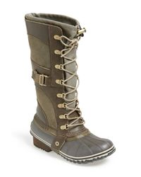 Sorel | Brown Conquest Carly Boot (women) | Lyst