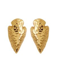 Gorjana | Metallic 18k Gold Plated Arrowhead Stud Earrings | Lyst