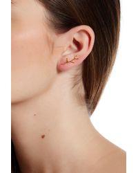 Gorjana | Metallic Leaf Stud Branch Ear Climber Earrings | Lyst