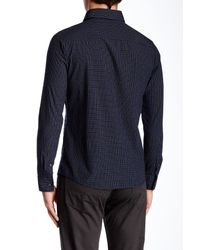 Slate & Stone - Blue Button Front Slim Fit Shirt for Men - Lyst