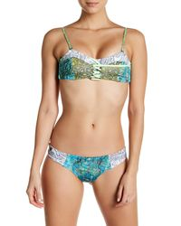 Maaji | Multicolor Maps Claps Chi Chi Cut Reversible Bikini Bottom | Lyst