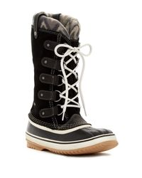 Sorel | Black Joan Of Arctic Knit Ii Waterproof Boot (women) | Lyst
