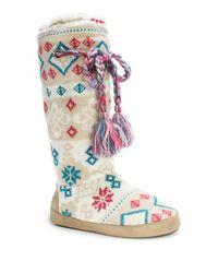 Muk Luks | Multicolor Grace Slipper Boot | Lyst