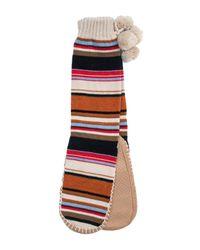 Muk Luks   Multicolor Slipper Socks With Pompoms   Lyst