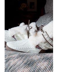 Muk Luks   White Jewel Faux Fur Pompom Slipper   Lyst