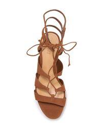Schutz Brown Lima Ghillie Gladiator Platform Sandal