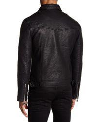 ELEVEN PARIS - Black Elmut M Faux Leather Zip Jacket for Men - Lyst