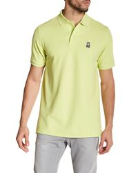 Psycho Bunny   Yellow Pique Pima Cotton Short Sleeve Polo for Men   Lyst