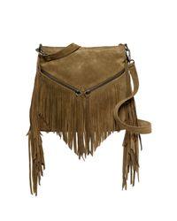 Sorial | Green Carli Suede Medium Crossbody Bag | Lyst