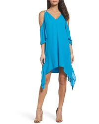 Adelyn Rae | Blue Fiona Cold Shoulder Shift Dress | Lyst