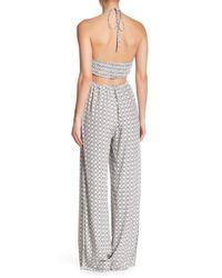 Dress Forum Gray Cutout Halter Jumpsuit