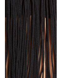 Luli Fama - Black Fringe Halter Bikini Top - Lyst