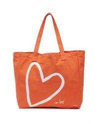 Peace Love World Orange Supporter Of Love Oversized Tote