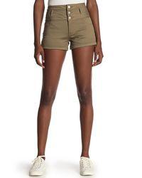 Tinsel Brown High Waist Cuffed Shorts