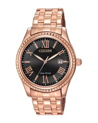 Citizen Metallic Women's Eco-drive Rose Gold Tone Stainless Bracelet Watch