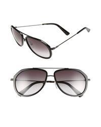 MCM - Black 58mm Aviator Sunglasses - Lyst