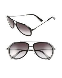 MCM - Black 58mm Aviator Sunglasses - Lyst