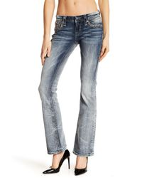 Rock Revival Blue Betty Bootcut Rhinestone Embellished Jeans