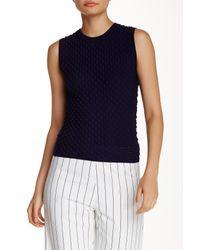 Lucy Paris Blue Bubble Knit Tank