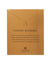 Dogeared - Metallic 14k Gold Plated Sterling Silver Good Karma Charm Necklace - Lyst