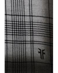 Frye - Gray Degrade Stripe Virgin Wool Wrap Scarf - Lyst