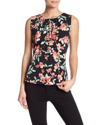 CALVIN KLEIN 205W39NYC - Black Floral Pleat Neck Cami - Lyst