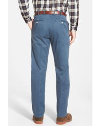 Peter Millar - Blue 'raleigh' Washed Twill Pants for Men - Lyst