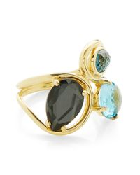 Ippolita - Metallic Rock Candy 18k Yellow Gold Prong & Bezel Set Stone Squiggle Ring - Size 7 - Lyst
