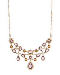 Carolee - Multicolor Cluster Frontal Necklace - Lyst