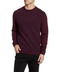 Ted Baker Purple Raket Textureblock Crewneck Sweatshirt for men