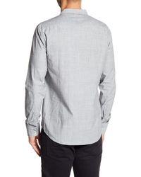 BOSS Gray Cielo Besom Pocket Regular Fit Shirt for men