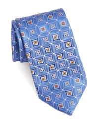 John W. Nordstrom - Blue Strode Medallion Woven Silk Tie for Men - Lyst