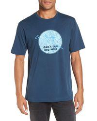 Travis Mathew   Blue 'no Habla' Graphic T-shirt for Men   Lyst