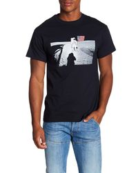 Altru Black Life On The Moon Graphic Tee for men