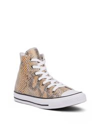 Converse - Multicolor Chuck Taylor All Star Snake Embossed Leather High Top Sneaker - Lyst