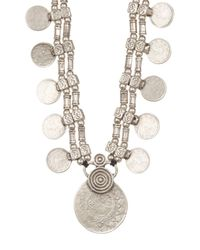 TMRW STUDIO - Metallic Engraved Layered Hammered Disc Necklace - Lyst
